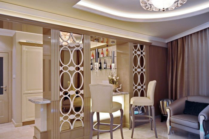 Bar decorative panels