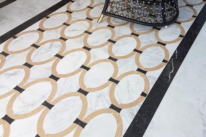 Custom-made marble floor