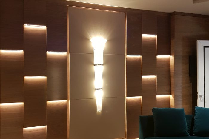Wall design for home cinema room