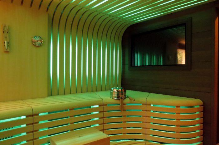 custom-designed sauna
